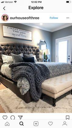 The softness and coziness - Einrichtung - Bedding Master Bedroom Dream Bedroom, Home Bedroom, Bedroom Furniture, Bedroom Decor, Bedroom Colors, Bedroom Drawers, Bedroom Sets, Furniture Sets, Furniture Online