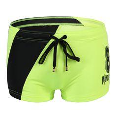 Summer Mens Sexy Swimwear Boxer Brief Swimming Swim Trunks Board Short Beachwear…