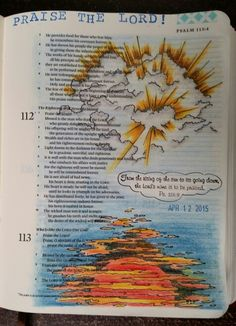 Psalm 113:3 by Paula Kay Bourland. Stamps by Red Rubber Designs