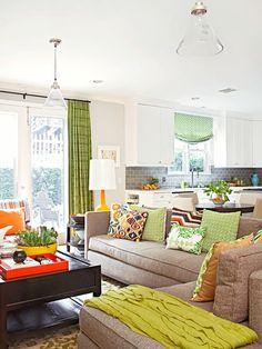 Auswahl Farbe couch tisch grün vorhänge idee