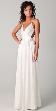 ONE by Contrarian: Something like this would make a beautiful, simple, timeless wedding dress for less than 400 dollars.