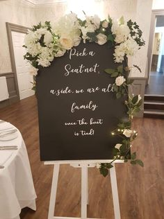 Creative family run wedding & events venue decor stylist, dresser and decor hire based in Central Scotland. Wedding Seating Board, Seating Arrangement Wedding, Wedding Ceremony Signs, Seating Chart Wedding Template, Pick A Seat, Seating Cards, Event Venues, Wedding Events, Charts
