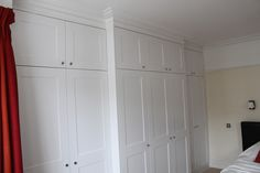 Image result for fitted wardrobes around a chimney breast