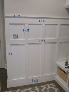 6 Enterprising Simple Ideas: Gray Wainscoting Board And Batten wainscoting trim interior doors.Gray Wainscoting Board And Batten wainscoting ideas bathroom. Home Renovation, Home Remodeling, Bathroom Remodeling, Casa Clean, Moldings And Trim, Moulding, Molding Ideas, Crown Moldings, Board And Batten