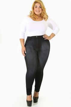 Extreme Distressed High Waist Jeans   Plus Size Apparel ...