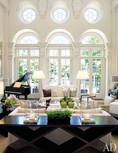 Living room - love the windows - beautiful
