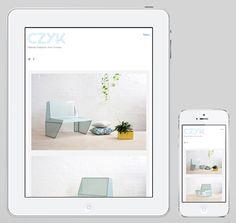 Website designed by Longton for Melbourne-based industrial design practice CZYK.