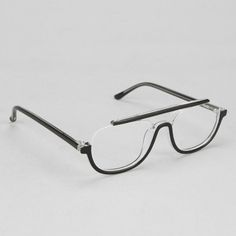 """enochliew: """" Regulus Aviator Readers by Ksubi Sleek cutout square frames topped with a bold contrast bridge. Funky Glasses, Cool Glasses, Mens Glasses, Glasses Frames, Oakley, Eye Frames, Eyewear, At Least, Jewelry"""
