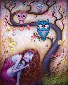 Here are two awesome prints from artist Jeremiah Ketner . Above is 'Wishing Tree' and below is . Art And Illustration, Fantasy Kunst, Fantasy Art, Art Fantaisiste, Dream Pop, Photo D Art, Ouvrages D'art, Whimsical Art, Painting & Drawing