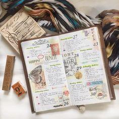 Week 43 #Midoritravelersnotebook #travelersnotebook #travelersnote #notebook #planner #plannerpages #agenda #diary #journal #bujo #bulletjournaling #journalpages #stationery