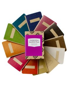 Composition Notebook Rainbow Pack