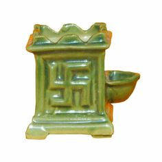 Ceramic Tulsi Pot - 3 inch Light Green