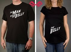 Mom and Dad To Be GIFT SET  The Belly and The by JellybeanApparel, $35.00