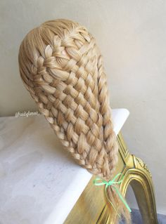 Waterfall/woven braid combo
