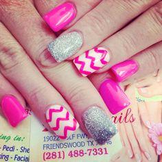 Pink nails!!