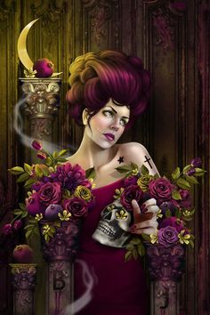 """""""Verge of Royal Morale"""" by the AMAZING Aunia Kahn!! She's also the owner of the beautiful Alexi Era Gallery   We LOVE Aunia!!"""