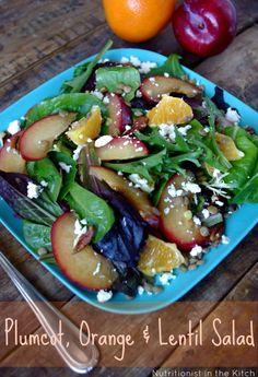 Plumcot, Orange & Lentil Salad... and Fave Five Friday: Lovely Lentil Dishes