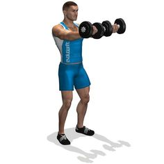 The exercise involves the forward part of the deltoid, it is employed for the definition of the muscle.