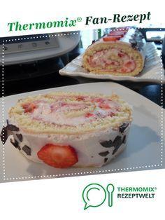 Erdbeerrolle, Biskuitrolle mit Erdbeerfüllung von Sille TM5. Ein Thermomix ® Rezept aus der Kategorie Backen süß auf www.rezeptwelt.de, der Thermomix ® Community.