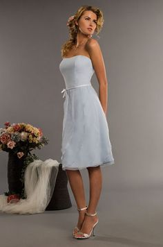 light blue short prom dress. reminds me of the ones from the 60's