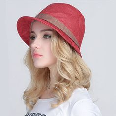 Casual linen plain bucket hat for women UV sun hats summer wear Red Bucket Hat, Mens Bucket Hats, Love Hat, Caps For Women, Kids Hats, Summer Wear, Sun Hats, Fashion Brands, Casual