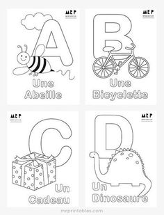 Printable Alphabet Coloring Pages Collection. Well, what do you think about alphabet coloring pages? Before recognizing it more, let's check what alphabet is! French Worksheets, Alphabet Worksheets, Alphabet Activities, Printable Worksheets, Mr Printables, Printable Alphabet, Free Printable, Alphabet Coloring Pages, Printable Coloring Pages