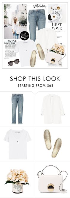 """""""Heat wave"""" by amaryllis ❤ liked on Polyvore featuring Current/Elliott, MANGO, Off-White, Tory Burch, Creative Displays, Marni and Illesteva"""