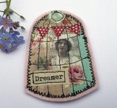 Fabric Brooch by pantsandpaper on Etsy
