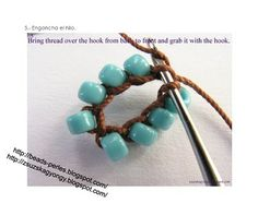 Crochet Rope - more detailed pictures of each step in several languages. This picture shows connecting the chain to make a tube - usually where students falter. To connect ends, see Ann Benson's invisible join pinned nearby. #Seed #Bead #Tutorials