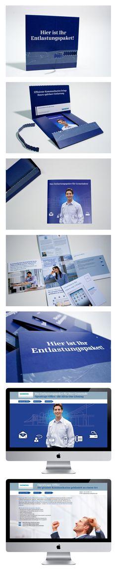 Siemens – Folder in Form eines Pakets, Landingpage Branding Design, Map, Location Map, Maps, Corporate Design, Identity Branding, Brand Design