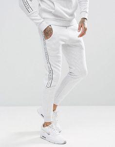 #ASOS - #Illusive London Illusive London Skinny Joggers In Gray With Taping - Gray - AdoreWe.com