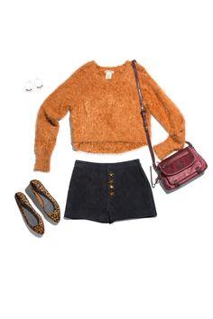 Sweater, Billabong; Shorts, asos.com; Flats, drschollsshoes.com; Simply Vera Vera Wang bag, kohls.com; Earrings, lotusjewelrystudio.com   - Seventeen.com