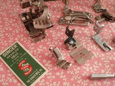vintage feet and how to use them (click on specific foot to see tutorials) this might be helpful since I just found two boxes of vintage presser feet in my mom's junk