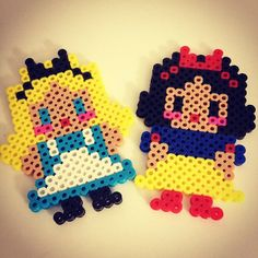 Alice and Snow White perler beads by ssaunders84