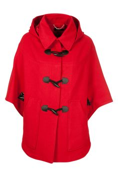 Pink RED Duffel coat
