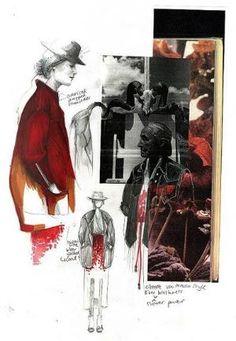 Fashion Sketchbook - gathering inspiration & fashion design drawings // Evelina Romano by sallie