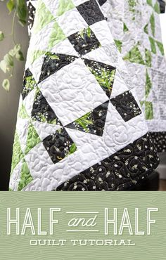 Jenny takes half square triangles and cuts them in half in her Half and Half Quilt tutorial! This quilt is wonderful for the home and easy to DIY! Layer Cake Quilt Patterns, Layer Cake Quilts, Star Quilt Patterns, Block Patterns, Layer Cakes, Missouri Quilt Tutorials, Quilting Tutorials, Quilting Designs, Quilting Projects