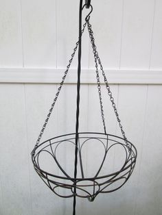 Hanging Planter Turned Craft Room Chandelier - I wanted a decorative piece for my new crafting space.I had this basket in storage.I love working with item on ha…