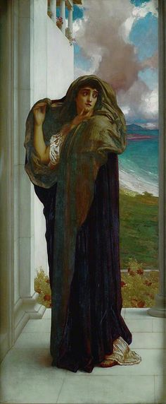 Frederic Leighton |Farewell. Copyright Ferens Art Gallery / Supplied by The Public Catalogue Foundation.