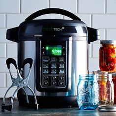 Ball Fresh TECH Automatic Home Canning System...I want one of these! No more standing next to a hot stove in the middle of summer canning only to have your cans not seal properly!