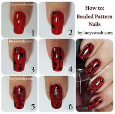 tutorial for beaded nails