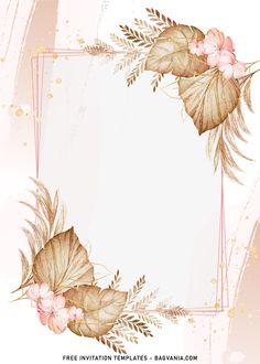 Photo Frame Wallpaper, Flower Background Wallpaper, Flower Backgrounds, Watercolor Background, Floral Watercolor, Wallpaper Backgrounds, Birthday Invitation Background, Birthday Invitation Templates, Disney Invitations