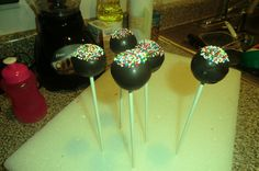 Cake pops I made for a video game birthday party.