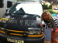 'When in Rome...' Some of our customers living their dream in Italy with their Bumble campervan! #bumbleabout