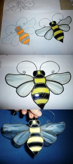 Bee by l1vethedream #StainedGlassButterfly