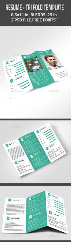 Resume Resume - Tri Fold Resume