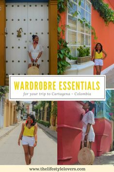 Your fashion travel essentials for your trip to Cartagena - Colombia. Head to our website for a bit of style inspo. Cartagena | Cartagena - Colombia | Cartagena Fashion | Cartagena Wardrobe Essentials