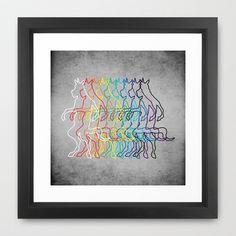 Rainbow Unicorn V02 Framed Art Print