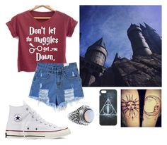 """""""<3 ∆ Harry Potter  ∆ <3"""" by e-herrbrecht ❤ liked on Polyvore featuring Converse"""