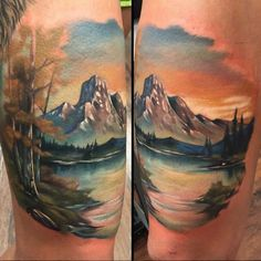 Beautiful Landscape Tattoo                                                                                                                                                                                 More
